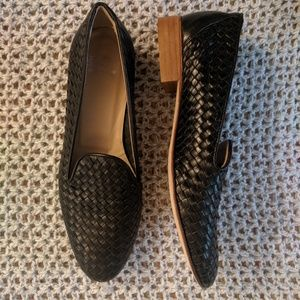 Andre Assous black loafers